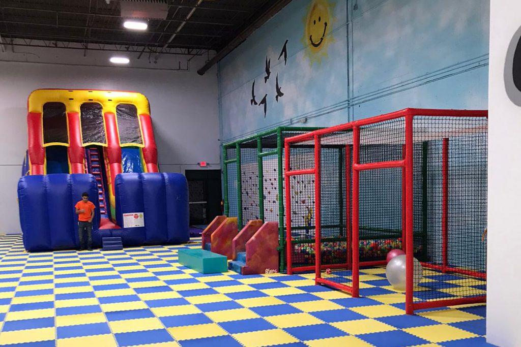 inflatable slide indoor playground nj